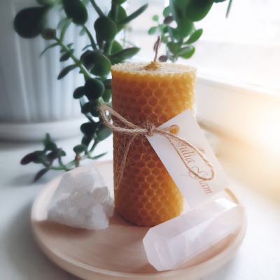 Honey candle 10 cm
