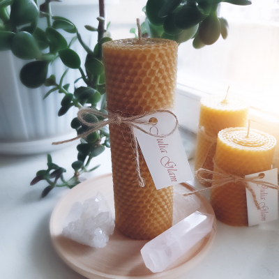 Honey candle 15 cm