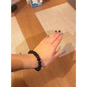 Женский браслет из байкальского нефрита и серебра 925 пробы